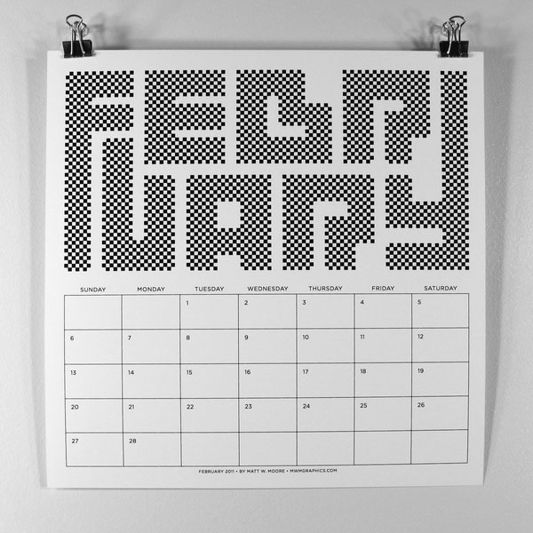 Typography Calendar Download : Incredible calendars created by talented designers