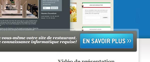 liveresto.com Call to action button