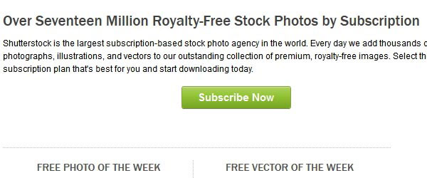 shutterstock.com Call to action button
