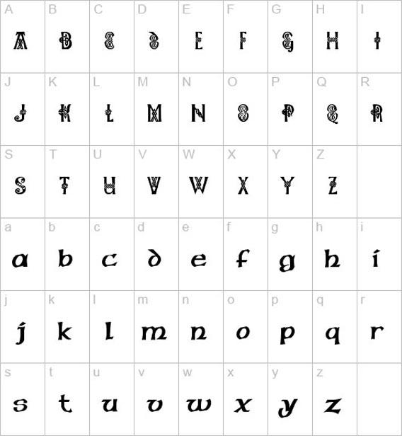 Шрифты для тату русские