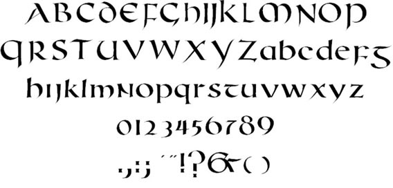 Carefully selected free celtic fonts examples