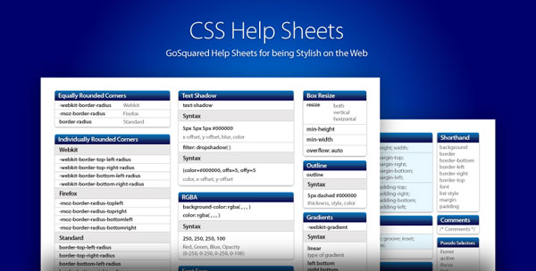 CSS2 and CSS3 Help Sheets are Here