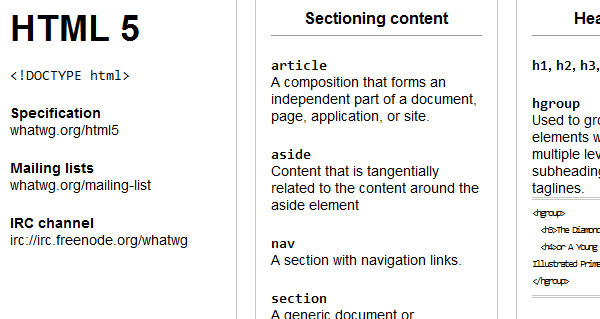 html5 cheat sheet with examples pdf