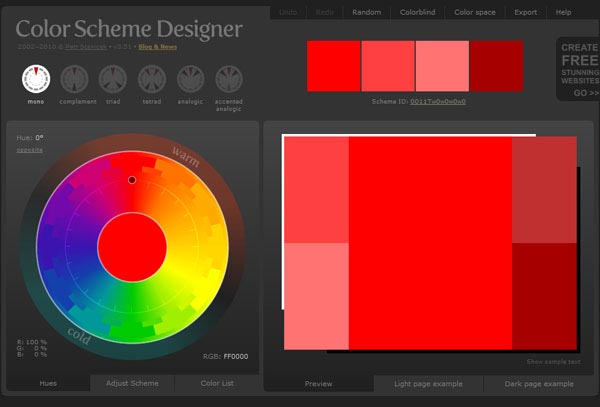 Color Scheme Designer 3