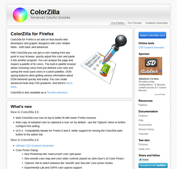 ColorZilla for Firefox