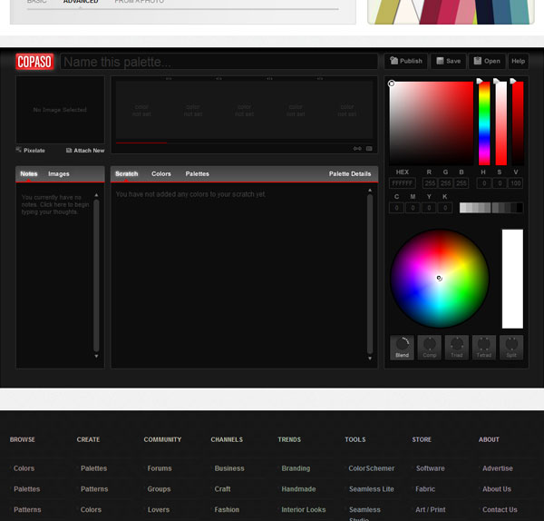 COPASO : Color Palette Software