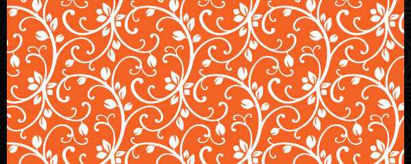 Leafy Orange Colorful Free Seamless Tileable Pattern