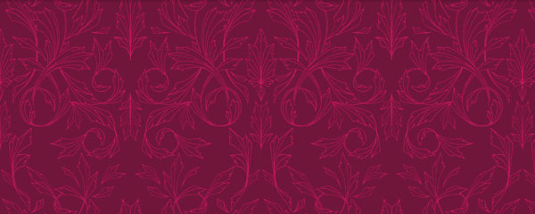 Palmetto Merlot Lines Colorful Free Seamless Tileable Pattern