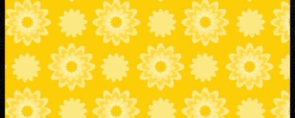 Yellow Floral Colorful Free Seamless Tileable Pattern
