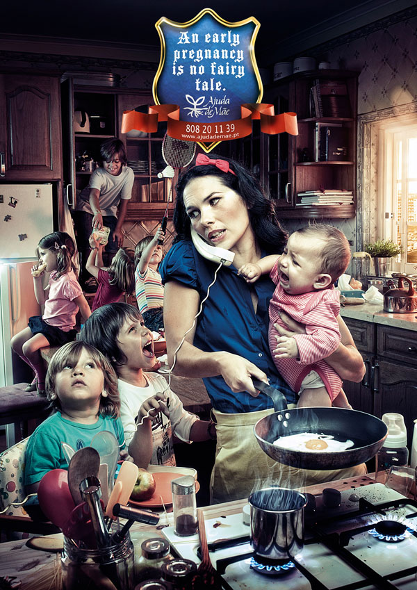 An early pregnancy is no fairy tale Print Ad Inspiration