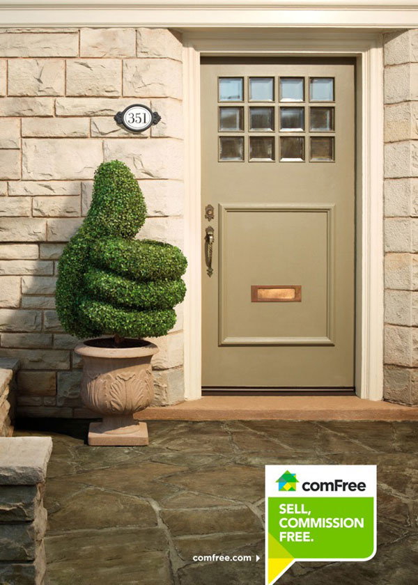 ComFree Real Estate Service Print Ad Inspiration