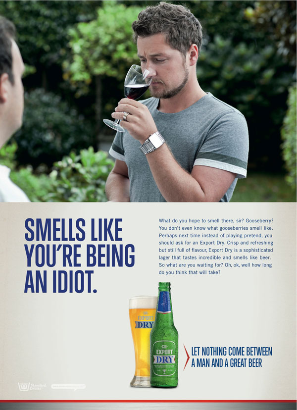 Smells like you're being an idiot Print Ad Inspiration