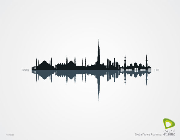 Etisalat: Global Voice Roaming Print Ad Inspiration