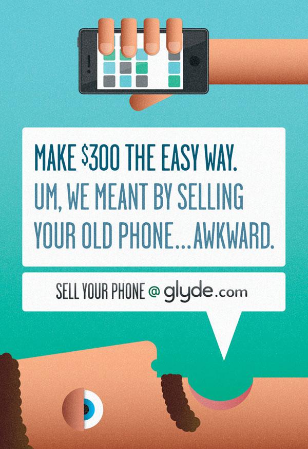 Ideas publicitarias de Glyde: 500 anuncios creativos y geniales