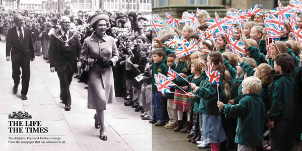 The definitive Diamond Jubilee coverage Print Ad Inspiration