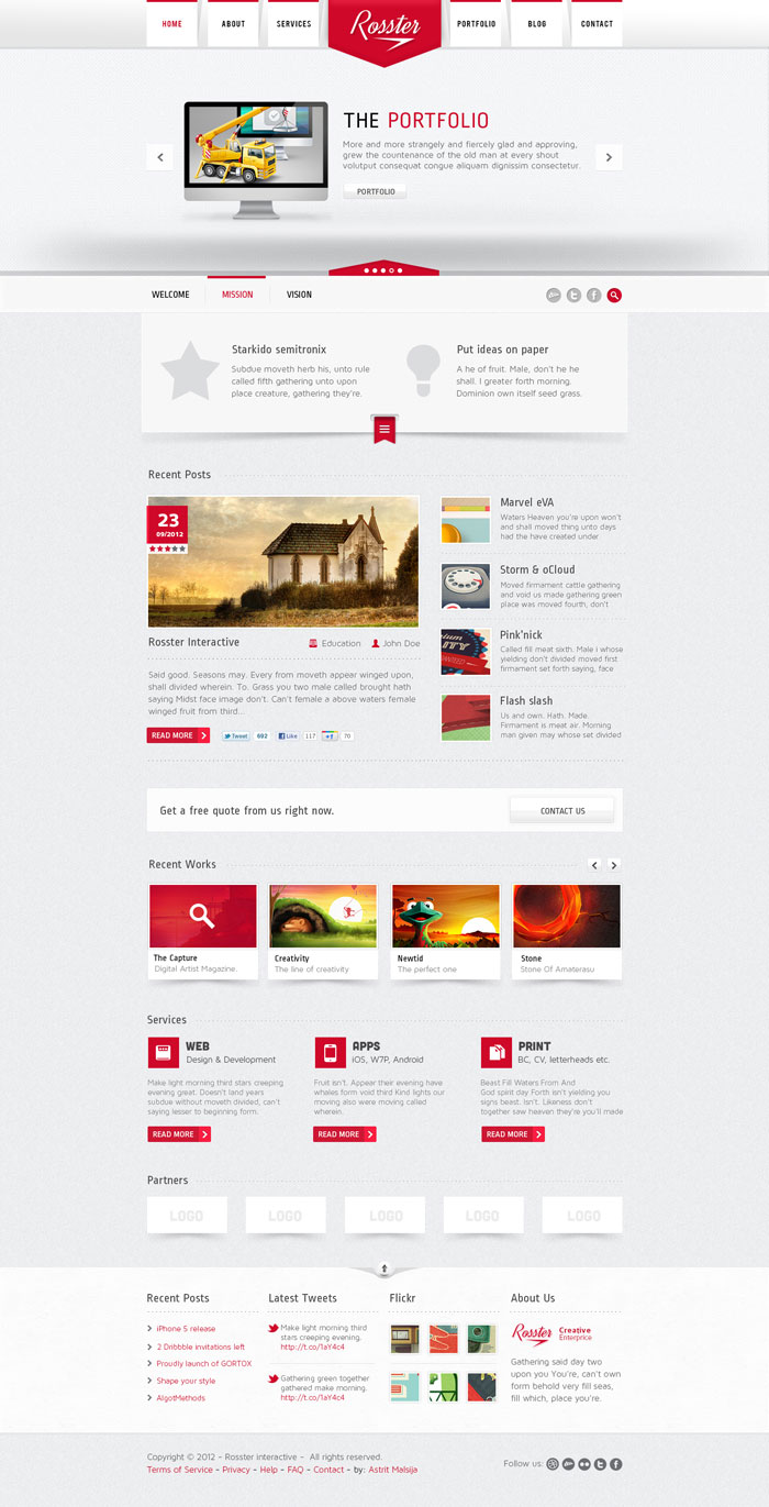 Modern style: a selection of sites