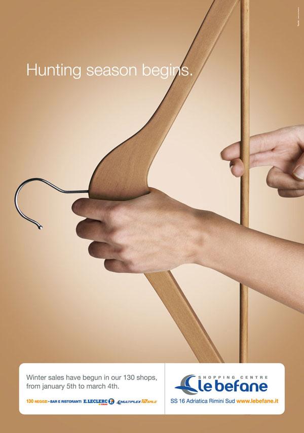 Comienza la temporada de caza Ideas publicitarias: 500 anuncios creativos y geniales