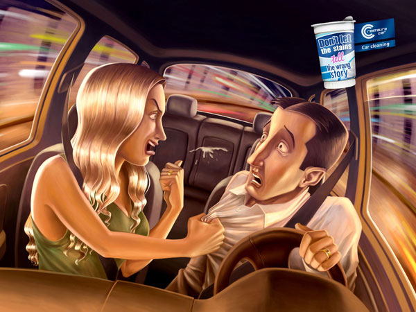 Car Cleaning Print Advertisement