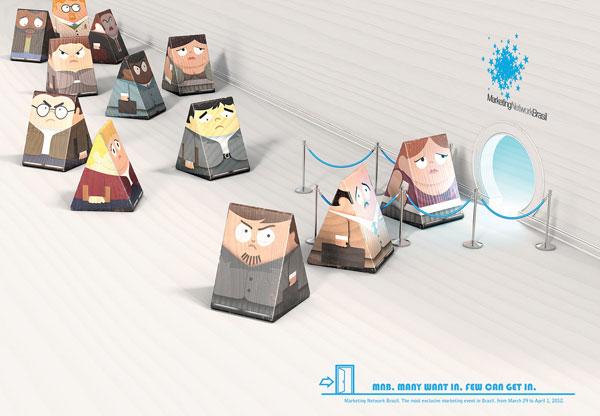 MNB.-Muchas quieren, -Few-can-get-in Ideas de publicidad: 500 anuncios creativos y geniales