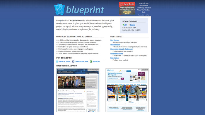Blueprint Popular CSS Library