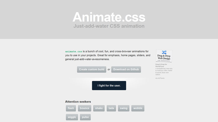 Animate.css Popular CSS Library