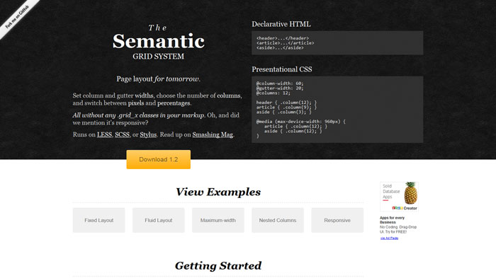 Semantic Popular CSS Library