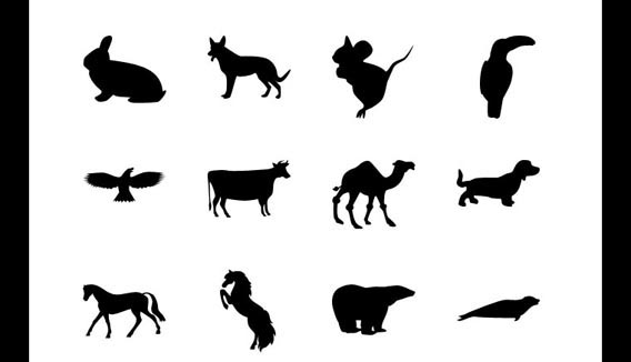 20 Animal Photoshop custom shape