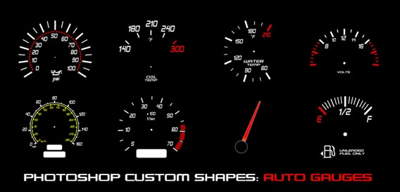 Auto Gauges Photoshop custom shape