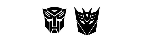 Autobot and Decepticon Photoshop custom shape