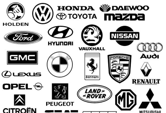 Car logos Photoshop custom shape
