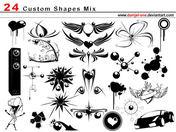 Mix Photoshop custom shape