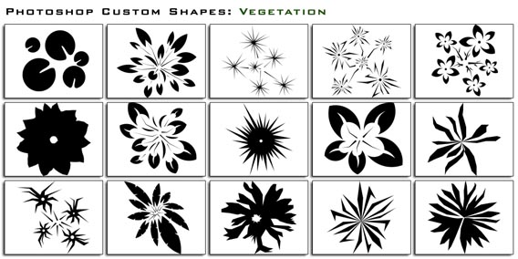 Vegetation Photoshop custom shape