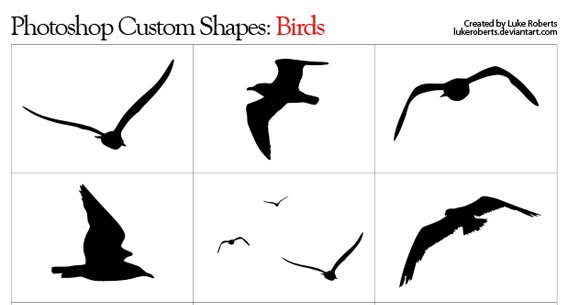 Birds Photoshop custom shape