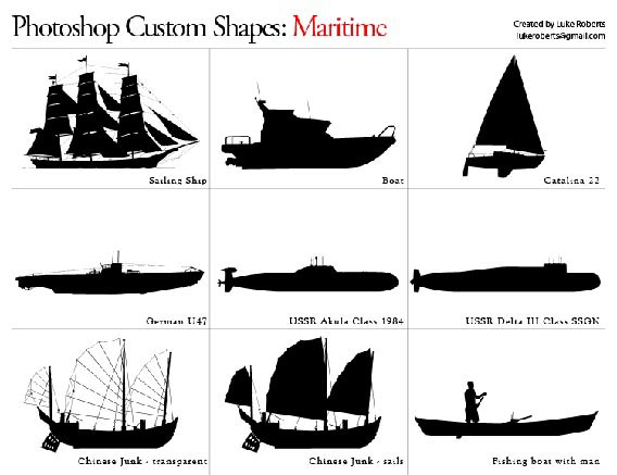 Maritime Photoshop custom shape