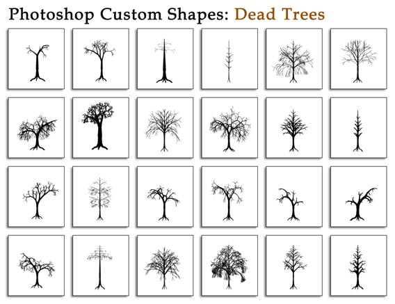 Dead Trees Photoshop custom shape