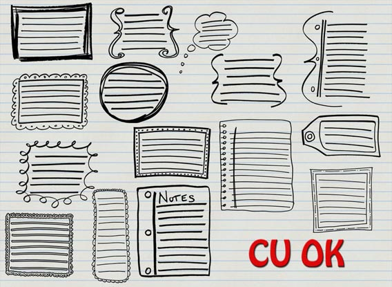 Doodle Journal Shapes Photoshop custom shape
