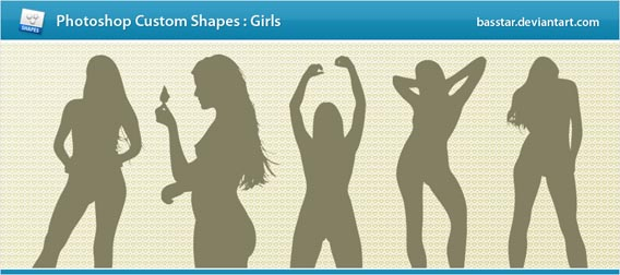 Girls Photoshop custom shape