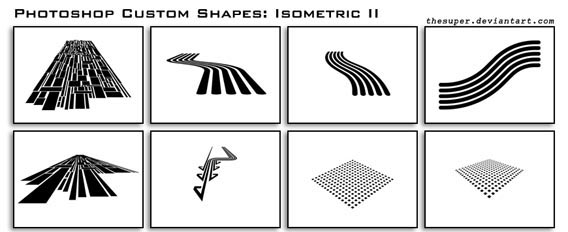 Isometric Shapes II Photoshop custom shape