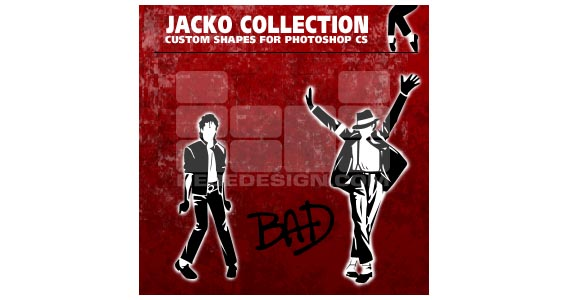 Jacko Collection Photoshop custom shape