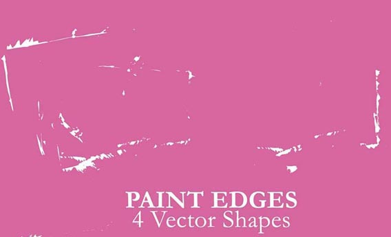 Paint Edges - 4 Vector Shapes Photoshop custom shape