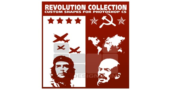 Revolution Collection Photoshop custom shape