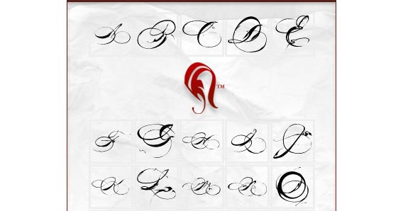 Letters Photoshop custom shape