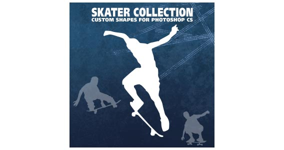 Skater Collection Photoshop custom shape