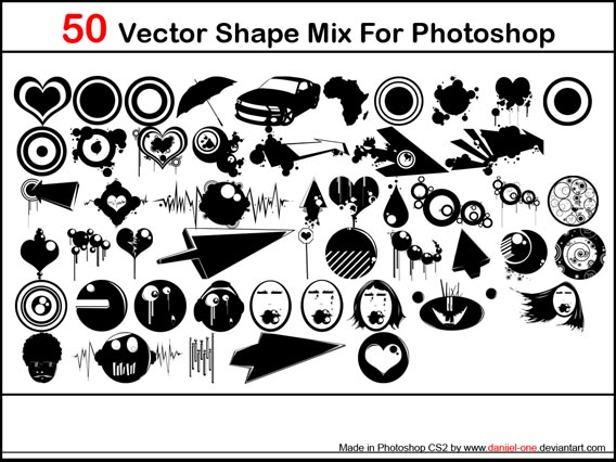 Vector Mix Photoshop custom shape