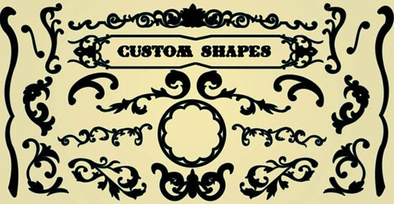 Decorative circus Photoshop custom shape