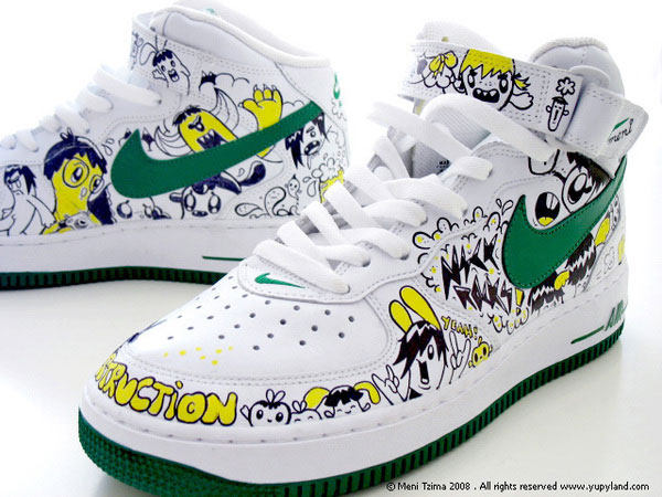Custom Painted Nike Sneakers Design