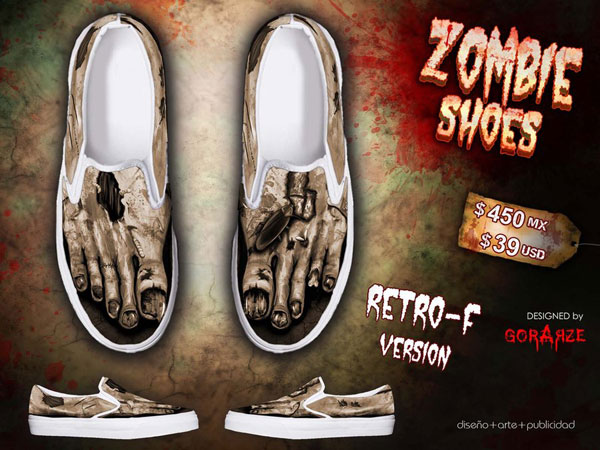 Retro- F Version- ZOMBIE shoes