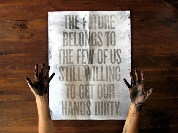Dirt Poster inspirational quote