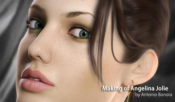 Making of the Angelina Jolie Digital Painting Tutorial