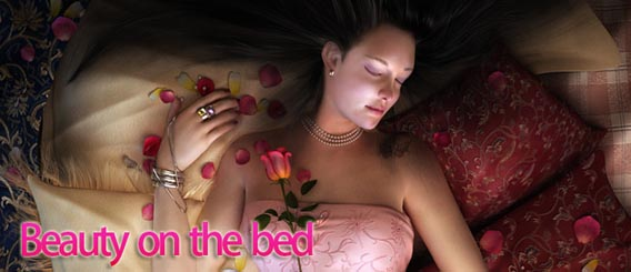 Making of Beauty on the Bed Digital Painting Tutorial